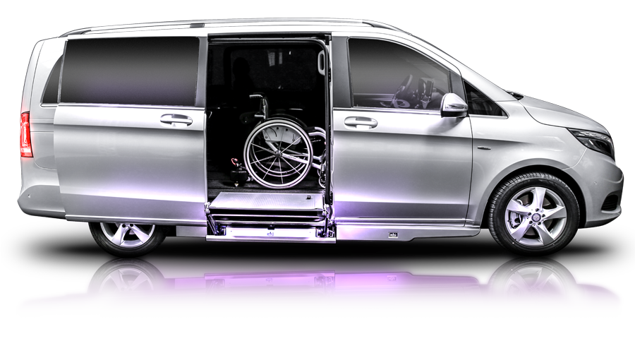 Mercedes benz classe v illumnia auto per disabili by rolfi for Sedia a rotelle png