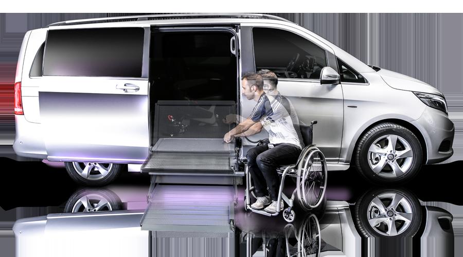 veicolo classe V per disabili con pedana