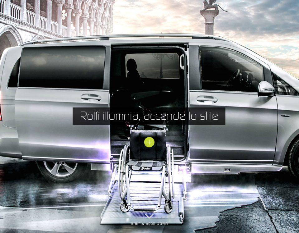 furgone per disabili con pedana